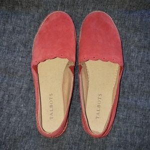 Talbots Like New Red Suede Slip Ons